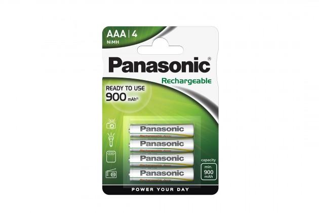 Nabíjacie batérie, nabíjačky Nabíjecí baterie Panasonic, AAA, přednabité, 900mAh, NiMh, 4ks