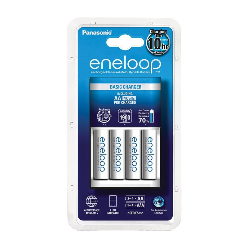 Nabíjacie batérie, nabíjačky Panasonic Eneloop nabíjačka KJ51MCC40E 4x AA