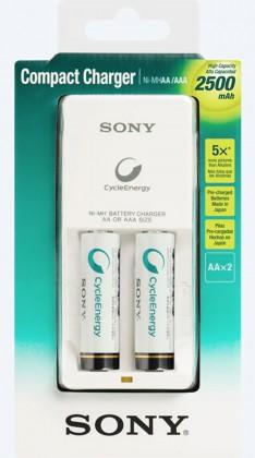 Nabíjacie batérie, nabíjačky SONY BCG-34HW2GN nabíjačka AA nebo AAA + 2x AA bateria 2.500mAh
