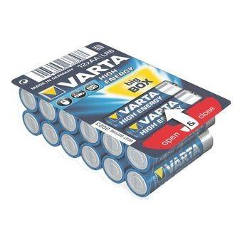Nabíjacie batérie, nabíjačky Varta High Energy 12 ks, AA