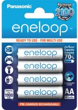 Nabíjacie batérie Panasonic Eneloop R6 / AA 1900mAh, 4 ks