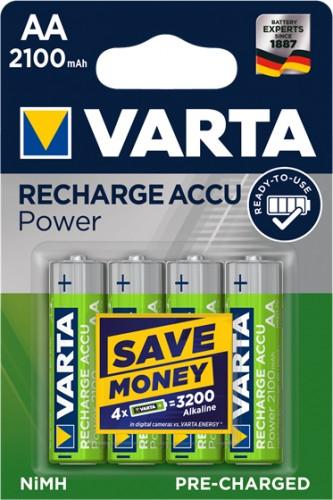 Nabíjacie batérie Varta, AA, 2100mAh, 4ks