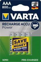 Nabíjacie batérie Varta, AAA, 800mAh, 4ks