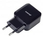Nabíjačka Aligator 2xUSB 2.4A, Turbo charge, čierna