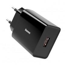 Nabíjačka Baseus, USB-A, 18 W, čierna