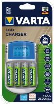 Nabíjačka batérií Varta LCD charger 4xAA2600 + 12V + USB