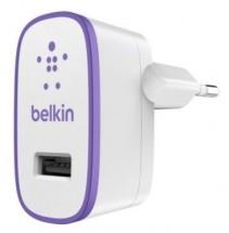 Nabíjačka Belkin 1xUSB 2,1 A, biela/fialová