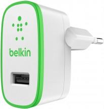 Nabíjačka Belkin 1xUSB 2,4A, biela/zelená