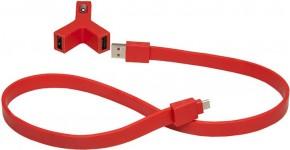 Nabíjačka do auta 2xUSB 2,1A + kábel Micro USB, červená