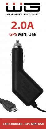 Nabíjačka do auta WG s Mini USB pre GPS navigácie