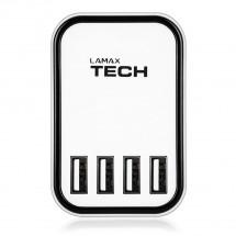 Nabíjačka Lamax SMART CHARGER 4,5A, 4x USB