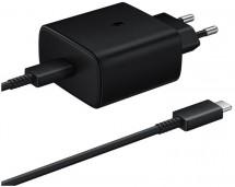 Nabíjačka Samsung 1x USB Typ C, 45W + USB kábel Typ C, čierna
