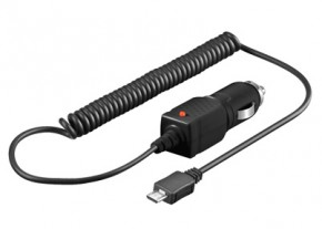Nabíjačka USB CL BLACK, micro USB, auto nabíjačka