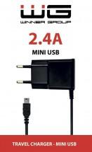 Nabíjačka WG s Mini USB 2,4A, pre GPS navigácie