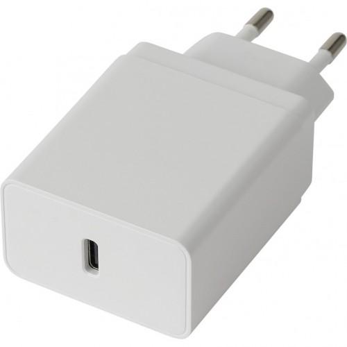 Nabíjačka WG USB-C, 18W + kábel USB-C na USB-C, biela