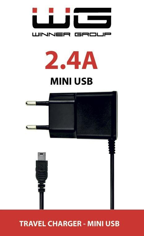 Nabíjačky do siete Nabíjačka WG s Mini USB 2,4A, pevná