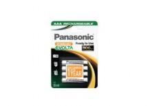 Nabíjecí baterie Panasonic, AAA, přednabité, 900mAh, NiMh, 4ks