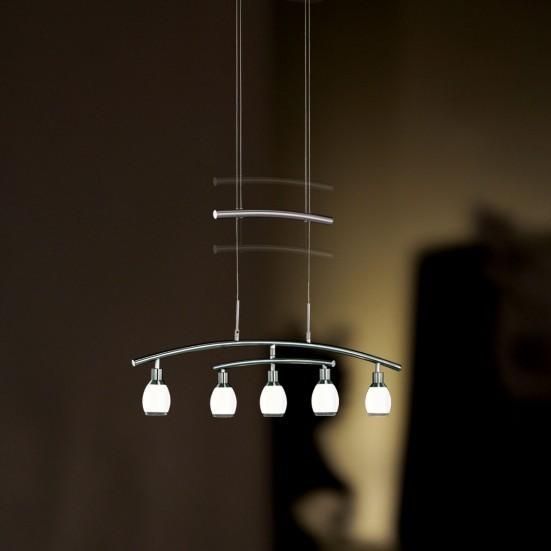 NÁBYTOK Atlanta - Stropné osvetlenie, LED (matný nikel)