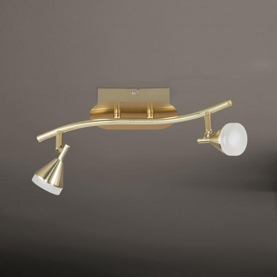 NÁBYTOK Cameron - Stropné osvetlenie, LED (matná mosadz)