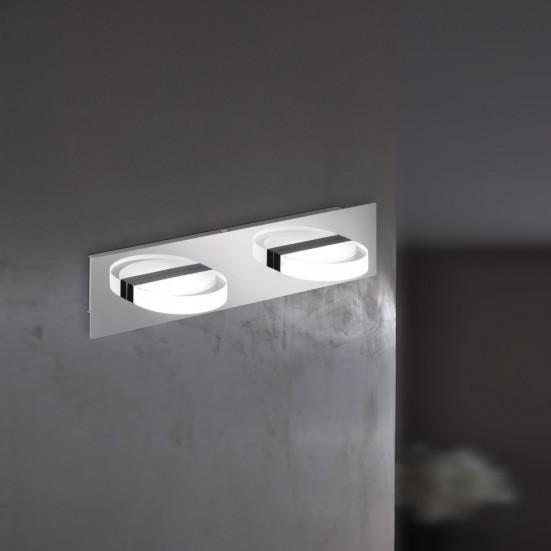 NÁBYTOK Estera - Nástenné svietidlo, LED (chróm)