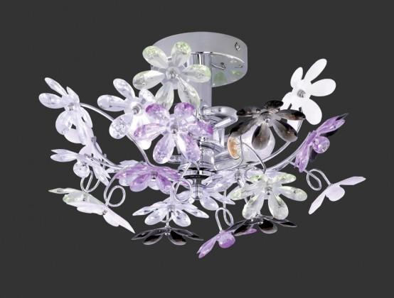 NÁBYTOK Flower - RE R20012017, E14 (strieborná)