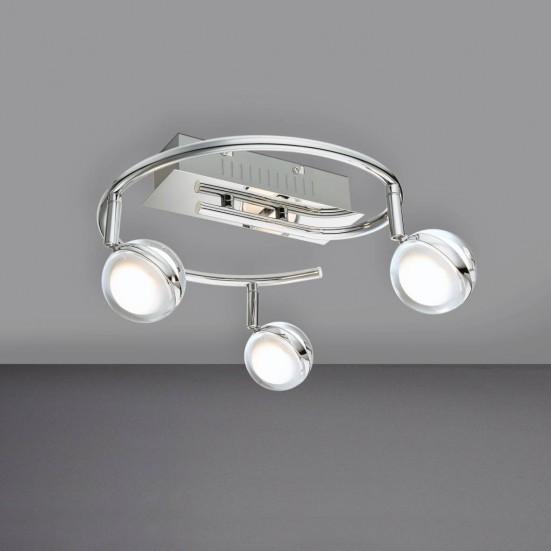 NÁBYTOK Fulton - Stropné osvetlenie, LED (chróm)
