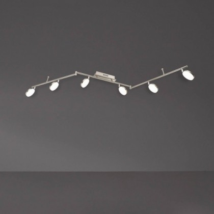 NÁBYTOK Hook - Stropné osvetlenie, LED (matný nikel/chróm)
