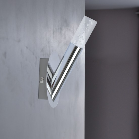 NÁBYTOK Midu - Nástenné svietidlo, LED (chróm)