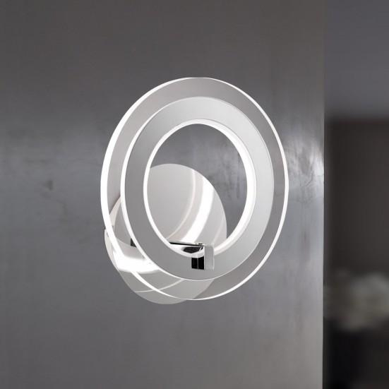 NÁBYTOK Noemi - Nástenné svietidlo, LED (chróm)