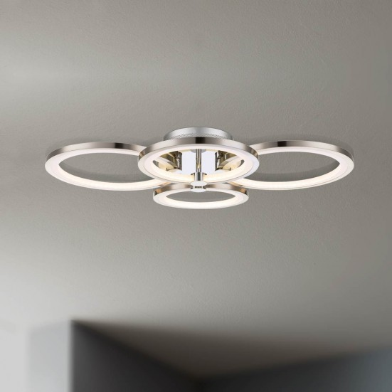 NÁBYTOK Surrey - Stropné osvetlenie, LED (matný nikel/chróm)