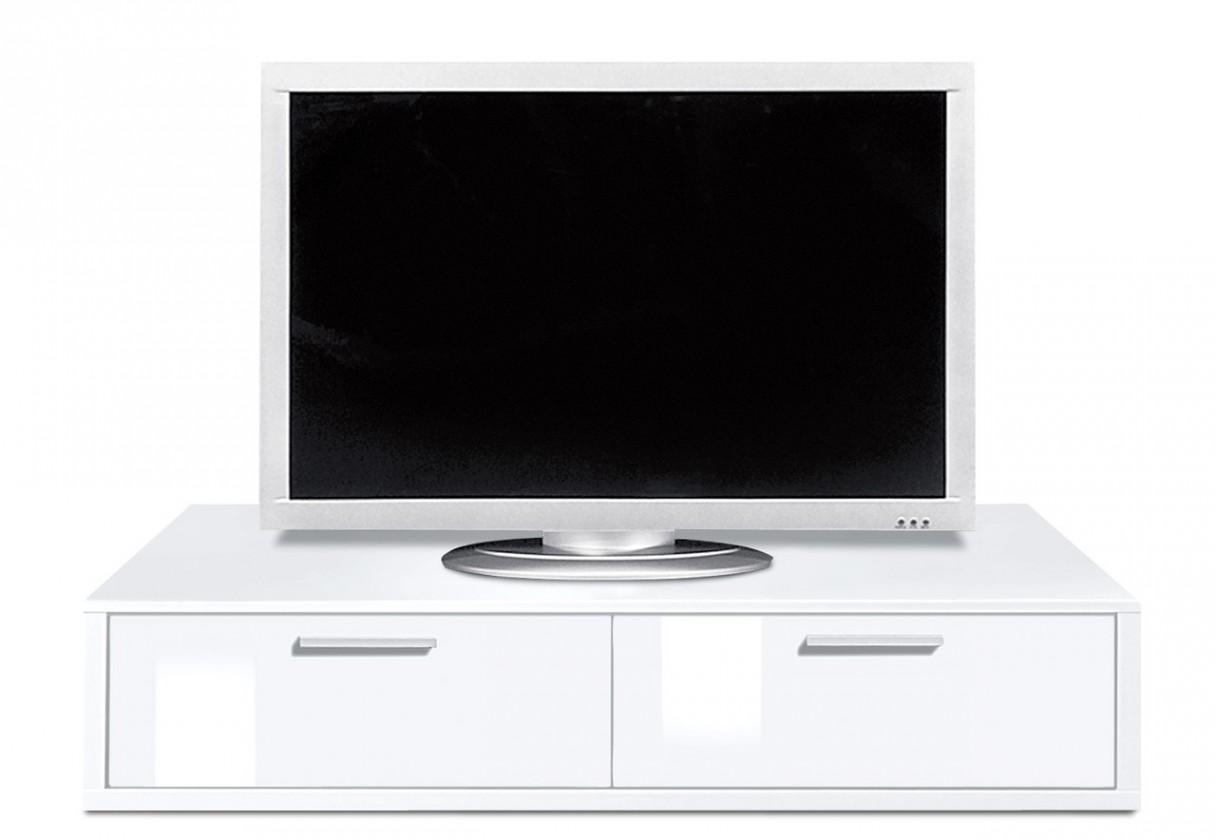 Nádstavec Game plus - TV prvok, 120 cm (biela/biela lak HG)