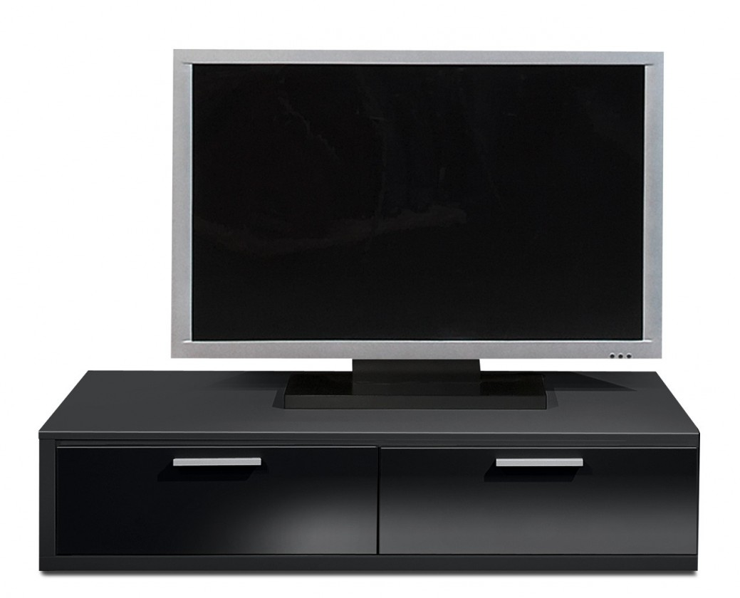 Nádstavec Game - TV prvok, 120 cm (čierna/černý lak HG)