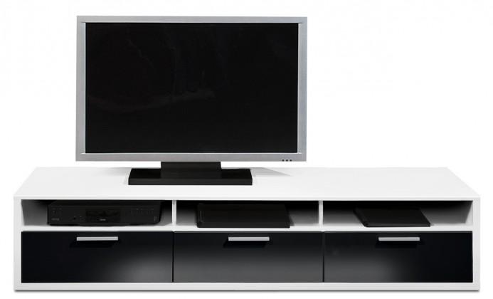 Nádstavec Game - TV prvok, 181 cm (biela/černý lak HG)