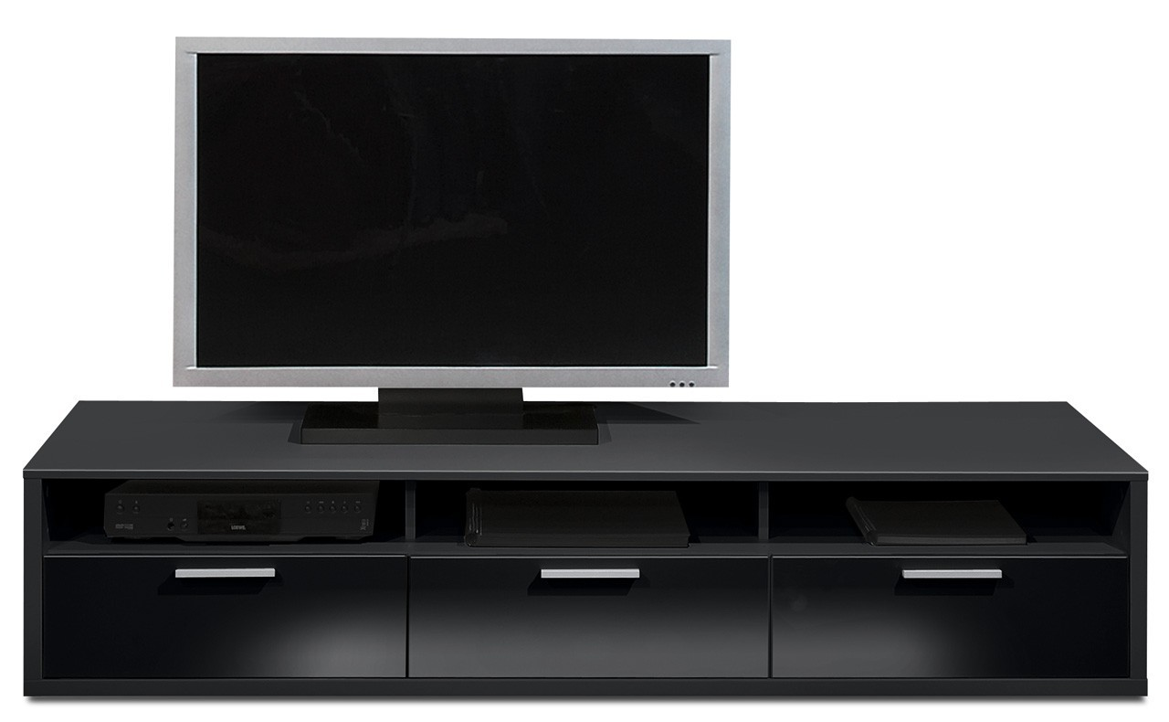 Nádstavec Game - TV prvok, 181 cm (čierna/černý lak HG)
