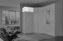 Nadstavec na skriňu Clack (2x dvere, biela, biela) - ROZBALENÉ