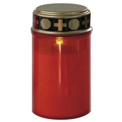 Náhradné hlavice  Hřbitovní svíčka nízká, červená LED