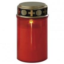 Náhrobná sviečka Emos P4601, LED, nízka, červená