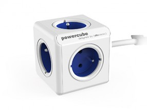 Napájací adaptér PowerCube Extended 5 zásuviek blue, 1,5m