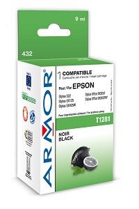 Náplne a tonery - kompatibilné ARMOR náplň, Black (T128140) K12588