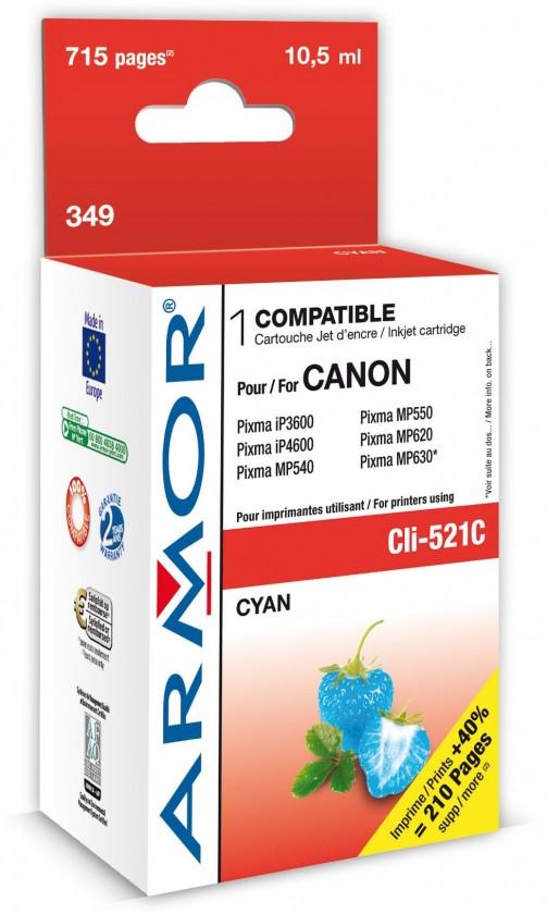 Náplne a tonery - kompatibilné ARMOR náplň, Cyan (CLI521C)K12466