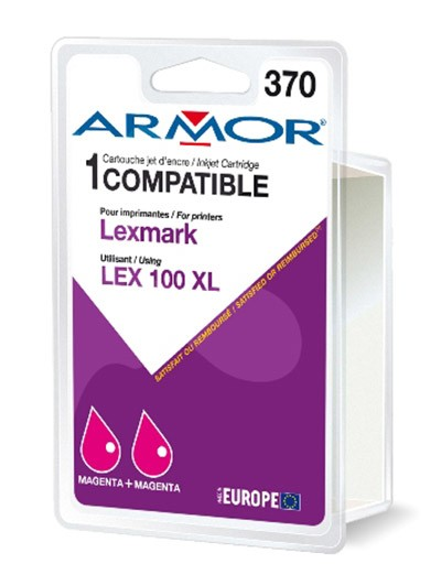Náplne a tonery - kompatibilné Armor náplň, Lexmark bi-pack (LEX100XL M) K10189R1