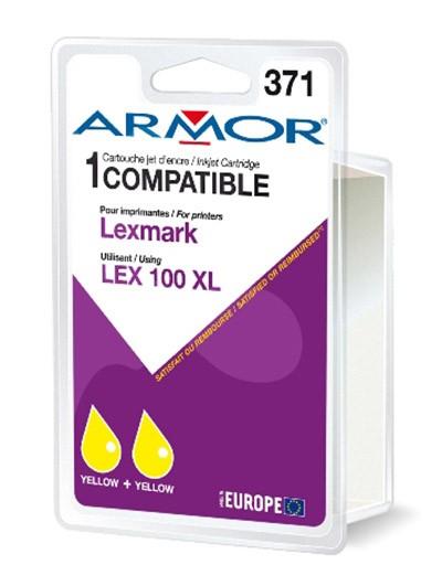 Náplne a tonery - kompatibilné Armor náplň, Lexmark bi-pack (LEX100XL Y) K10190R1