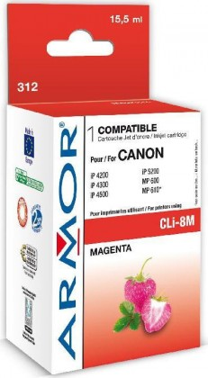 Náplne a tonery - kompatibilné ARMOR náplň, Magenta (CLI8M)K12385