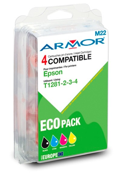 Náplne a tonery - kompatibilné ARMOR náplň, multipack Black + C/M/Y B10215R1