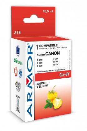 Náplne a tonery - kompatibilné ARMOR náplň, Yellow (CLI8Y)K12386