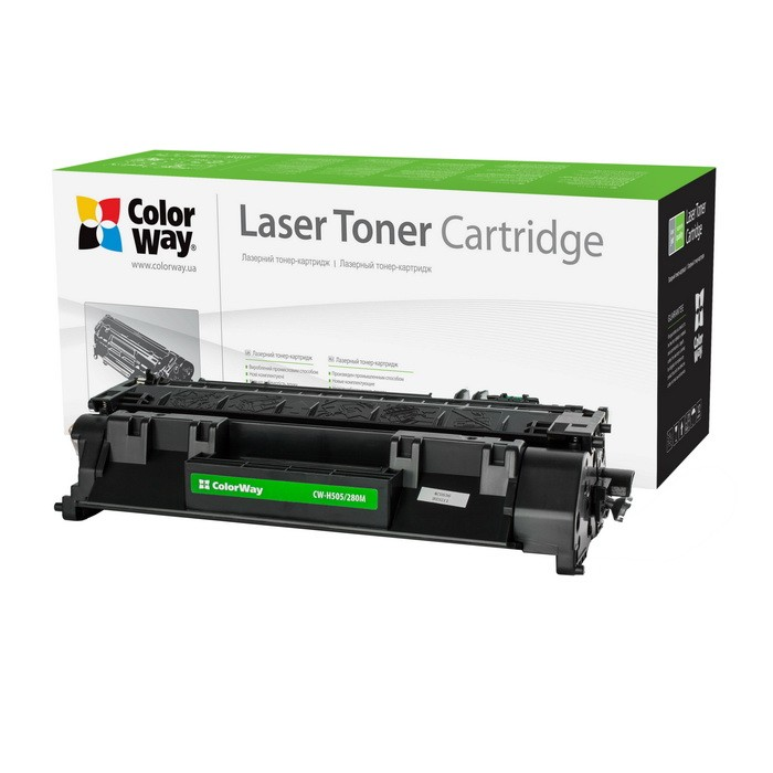 Náplne a tonery - kompatibilné Toner ColorWay pre HP CE505A, čierny