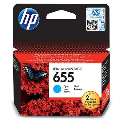 Náplne a tonery - originálné Atramentová kazeta HP CZ110AE, HP 655 modrá