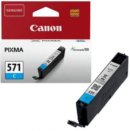 Náplne a tonery - originálné Canon CLI-571C, azúrová - originálna