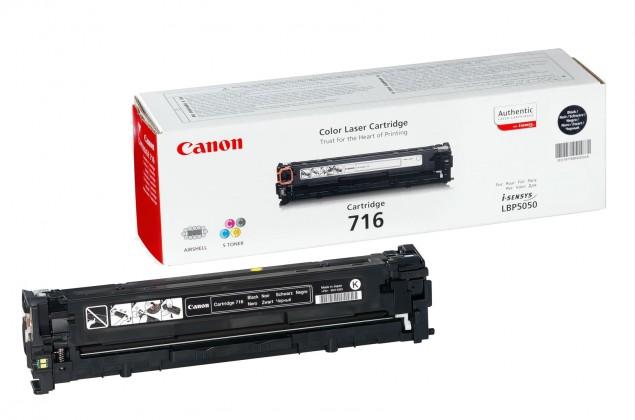 Náplne a tonery - originálné Canon CRG-716Bk - originálny