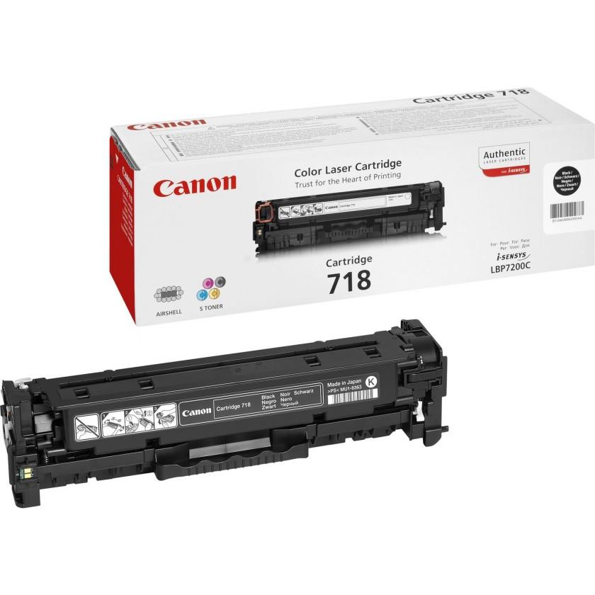 Náplne a tonery - originálné Canon LASER TONER black CRG-718BK (CRG718BK)